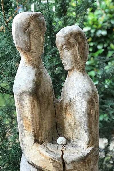 Paar mit Schnecke